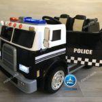 CAMIÓN DE POLICÍA NEGRO 2 PLAZAS 12V 2.4G