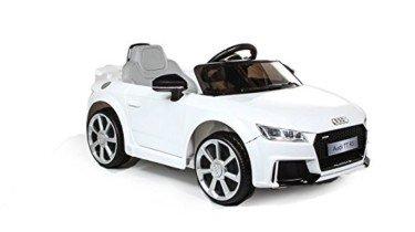 Audi TT RS 12v Licenciado con mando – Coche eléctrico para niños – Blanco