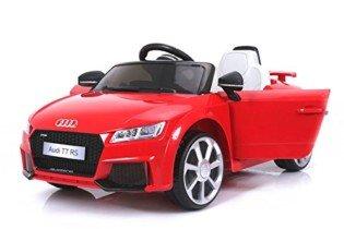 Audi TT RS, Rojo, Licencia Original, Batería accionada 12V