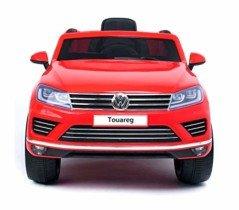 Coche eléctrico para niños SUV VOLKSWAGEN Touareg asiento de cuero 12V – Rojo