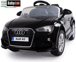 Coche eléctrico para niños Audi A3 con Mando a Distancia, 12 V, Negro