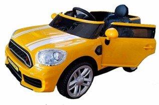 BC BABY COCHES Coche eléctrico para niños 12V Estilo-Mini (Amarillo)