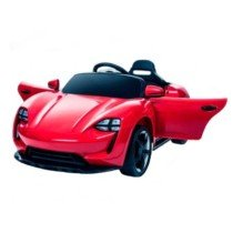 Coche eléctrico para niños 12v con mando Estilo Porsche Rojo