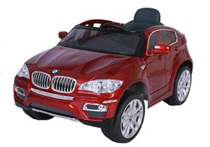 Coche Electrico para Niños con Batería Control Remoto – BMW X6 – Rojo Metálico