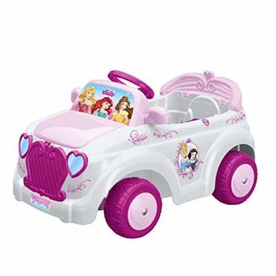 Feber-800010252 Princesas Disney Coche 6 V, Color Rosa, Blanco