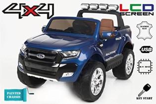 Ford Ranger Wildtrak 4X4 LCD Luxury, Coche eléctrico para niños, 2.4Ghz, 12v