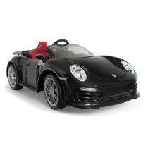 Injusa-7184 Coche Porsche 911 Turbo S A Batería, Color Negro