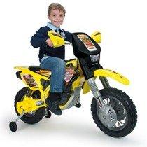 Moto Cross Thunder MAX con ruedines, batería 12V