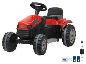 Jamara-460262 Ride on Tractor 6V Strong Bull, Color Negro, Rojo