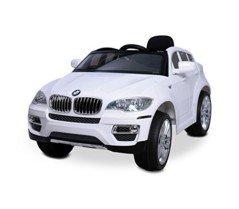 LT 847 Coche eléctrico para niños BMW X6 monoplaza 12V con control remoto – Blanco