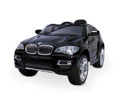 LT 847 Coche eléctrico para niños BMW X6 monoplaza 12V con control remoto – Negro