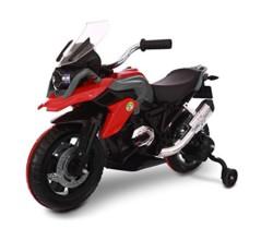 LT 873 Moto de Carreras para niños Flower eléctrica 12V con Luces LED rojo