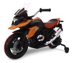 LT 873 Moto de carreras para niños Flower eléctrica 12V con luces LED
