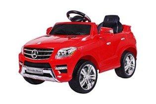 moleo – Coche Infantil Mercedes-Benz ML con 2 Motores rojo
