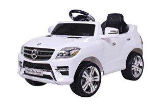 moleo Coche infantil Mercedes-Benz ML con 2 motores blanco