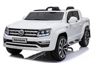 Mondial Toys Coche Eléctrica para Niños 2 Plazas Pastilla 2 x Baterías 12 V 4 x Motor Volkswagen Amarok 4 x 4