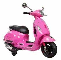Moto eléctrica infantil vespa rosa 12V