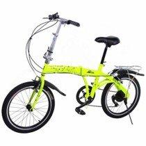 "Riscko Metric Bicicleta Plegable Unisex con Ruedas de 20"" Color Amarillo flúor"