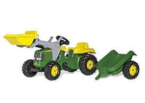 Rolly FS 023110 – John Deere – Pedal tractor con pala frontal y remolque