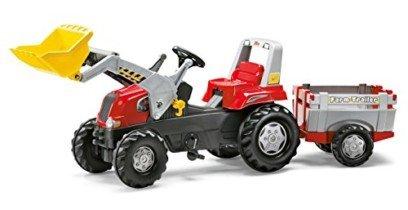rolly toys – Tractor con remolque para niños Junior RT