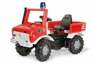 Rolly – Vehículo Unimog de bomberos con luz y sonido, 110 cm, multicolor