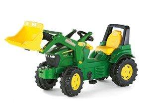 rRolly toys 710027 John Deere – Tractor miniatura con pala frontal