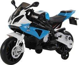 RunRunToys Moto BMW eléctrica 12v con Luces led para niños