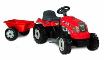 Smoby – Tractor rojo con remolque