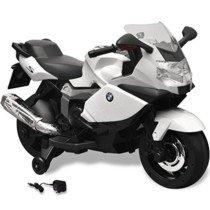 vidaXL Moto eléctrica de juguete color blanca, modelo BMW 283 6 V