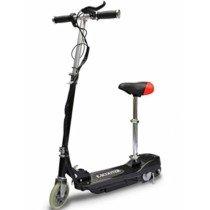 vidaXL Patinete eléctrico con asiento 120W negro Scooter Monopatín